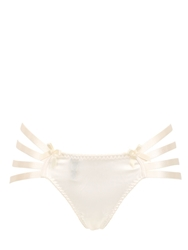 Bordelle Webbed Silk Satin Thong Ivory