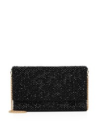 Reiss Minty Beaded Evening Shoulder Bag Black