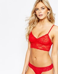 New Look Lace Bralet Red
