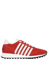 Dsquared New Runner Suede Sneakers Red