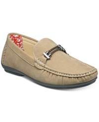 Stacy Adams Men's Percy Braided Strap Drivers Men's Shoes Taupe