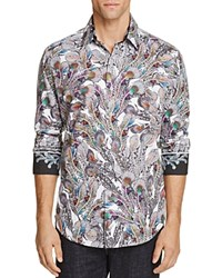 Robert Graham Peacock Feather Classic Fit Button Down Shirt Multi