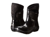 Bogs Plimsoll Quilted Floral Mid Black Women's Work Boots