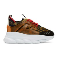 Versace Multicolor Animalier Chain Reaction Sneakers