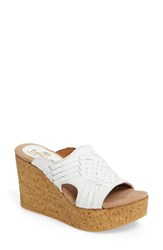 Sbicca Women's Manny Platform Wedge White