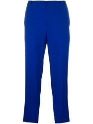 Lanvin Tapered Cropped Trousers Blue