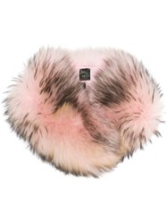 Mr And Mrs Italy Racoon Fur Collar Pink