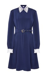 Alexis Mabille Embellished A Line Dress Navy