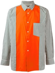 Comme Des Garcons Vintage 'Homme Plus' Striped Shirt Yellow Orange