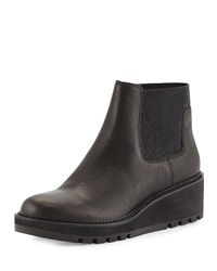 Low Wedge Chelsea Boot Black Eileen Fisher