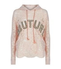 Forte Couture Bad Girl Pink Lace Hoodie