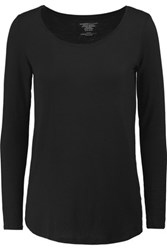 Majestic Oversized Stretch Jersey Top Black