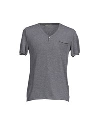Roberto Collina Topwear T Shirts Men Dark Blue