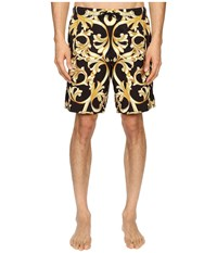 Versace Baroque Nylon Long Trunk Black Gold