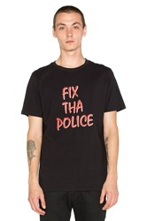Lazy Oaf Fix The Police Tee Black