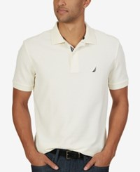 Nautica Men's Short Sleeve Performance Deck Polo Sail Cream