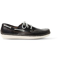 Quoddy Moc Ii Leather Boat Shoes Black