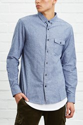 Forever 21 Slim Fit Marled Shirt