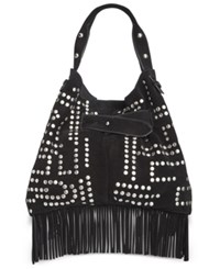 Sam Edelman Emily Studded Bucket Bag Black