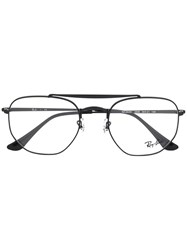 Ray Ban Top Bar Round Glasses Black