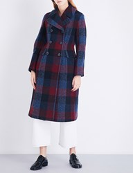 3.1 Phillip Lim Boucla Double Breasted Check Wool Overcoat Buffalo Check