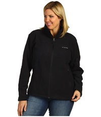Columbia Plus Size Fast Trek Ii Full Zip Fleece Jacket Black Women's Coat