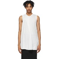Julius White Rib Knit Tank Top