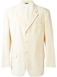 Moschino Vintage Three Button Blazer Nude And Neutrals