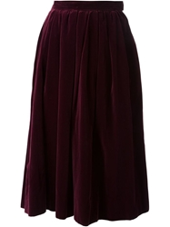 Yves Saint Laurent Vintage Flared Skirt Pink And Purple