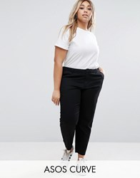 Asos Curve Chino Trousers Black