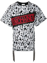 Faith Connexion Unchained Printed T Shirt Cotton S Black
