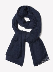 Dorothy Perkins Navy Fine Lace Scarf Blue