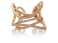Dauphin Women's Serpentine Cuff Ring Gold