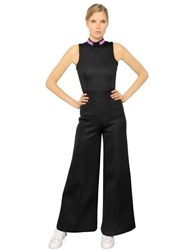 Omelya Embroidered Patches Neoprene Jumpsuit
