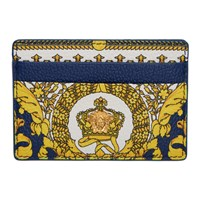 Versace Blue And White Heritage Card Holder