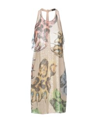 Giles Knee Length Dresses Beige