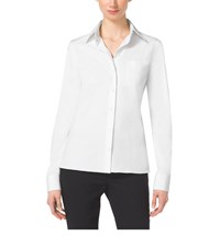 Michael Kors Cotton Poplin Button Down Shirt