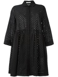Peter Jensen Broderie Anglaise Smock Dress Black