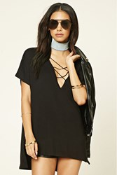 Forever 21 Strappy Plunging Tunic
