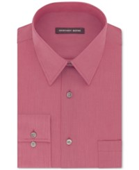 Geoffrey Beene Men's Big And Tall Classic Fit Wrinkle Free Bedford Cord Solid Dress Shirt Candy