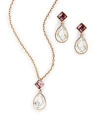 Swarovski Crystal Pedant Necklace And Earrings Set No Color