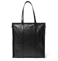 b953b43f2ff Creased Leather Tote Bag Black