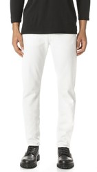 Baldwin Denim Henley Slim Straight Japanese Stretch Overdye Jeans White Sand