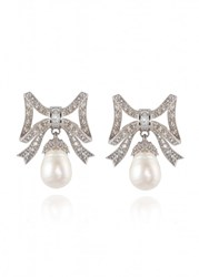 Apples And Figs Marquise Pearl Earrings