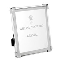 William Yeoward Classic Clear Glass Photo Frame 8X10 Silver