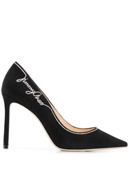 Jimmy Choo Romy 100 Crystal Pumps Black
