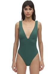 Eberjey Vivian Stretch Pique One Piece Swimsuit Green