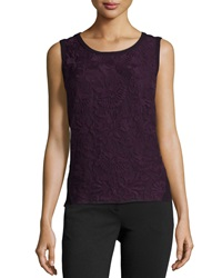 Laundry By Shelli Segal Embroidered Combo Tank Blackberry