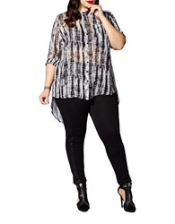 Mblm By Tess Holliday Long Sleeve Tie Dye Blouse