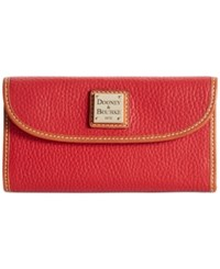 Dooney And Bourke Pebble Continental Clutch Red